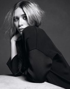 OLSENS ANONYMOUS BLOG MKA MARY KATE ASHLEY OLSEN PHOTOSHOOT PICTURE WSJ INNOVATORS OF THE YEAR 2012 OUTTAKES PORTRAIT BLACK SHEER PANEL MESSY WAVY HAIR TOP KNOT SILK PANNELED TUX JACKET SMOKEY EYE AMY TROOST
