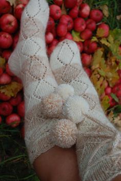 Hand knitted socks by QueenBeeElita on Etsy