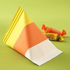 Halloween Treat Bags & Boxes: Candy Corn Treat Package (via Parents.com)