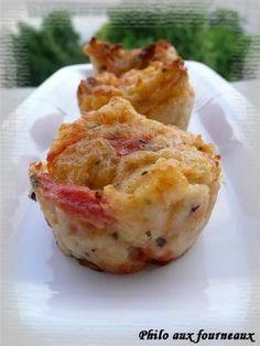 Muffins aux tomates, à la mozzarella & au basilic