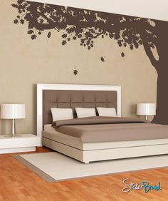 Vinyl Wall Decal Sticker Falling Leaves under Tree by Stickerbrand Wall Decal Sticker, Vinyl Wall Decals, Bedroom Decor, Wall Decor, Falling Leaves, Textured Walls, Home Crafts, Wall Murals, Decoration
