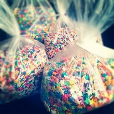 Use sprinkles instead of rice at weddings to throw on the Bride and Groom. This is happening.