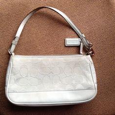 "Powder Blue Coach Mini Purse Some signs of wear as shown in pics. Width 9 1/2"" Length 5"" Coach Bags Mini Bags"