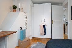 Una monería de ático de 42 m² Estilo nórdico