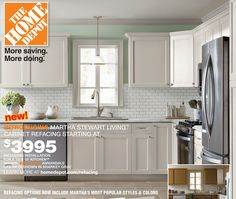 Martha Stewart Now Offering Cabinet Refacing!!!! Kitchen RefacingRefinish  Kitchen CabinetsKitchen CabinetryHome Depot ...