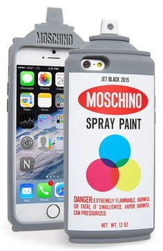 Free shipping and returns on Moschino Spray Paint Can iPhone 6 & 6s Case at Nordstrom.com. Tag, you're it. Moschino's Fall 2015 runway collection takes inspiration from the urban lifestyle and pop culture of the '90s, and this spray-paint can iPhone case—complete with a classic design and Moschino branding—is as street as it gets.