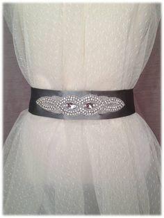 Nasim Belt, from our Something New collection, Bright Wedding Crystal Beaded Satin Sash, Bridal Belt, Rhinestone Sash by SomethingTreasured8, $120.00