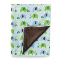 Skip Hop Plush Blanket, Elephant Parade