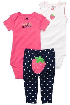 Amazon.com: Carters Super Sweet 3-Piece Set (Sizes NB - 9M): Baby