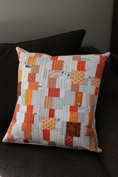 Modern Quilted Pillow Cover by teaginnydesigns on Etsy