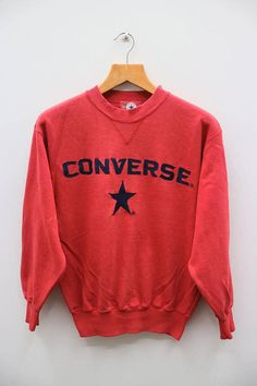 Rare!! Vintage Clothing Men STUSSY 90s embroidery Small Logo Sweatshirt Jumper Skateboard Streetwear Red Colour Small Size KmzIb