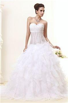 Fancy Ball Gown Sweetheart Sleeveless Ruffles Taline's Wedding Dress EF84938