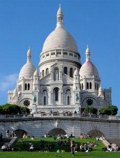 Sacré Coeur in Paris. It overlooks the city for one of my favorite views in Paris