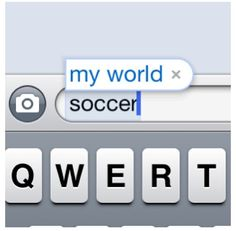 My world.