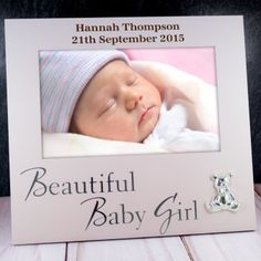 Personalised baby girl photo album princess design personalised new baby gifts stunning personalised and unique newborn baby gift ideas with a difference buy online now fast uk delivery negle Gallery