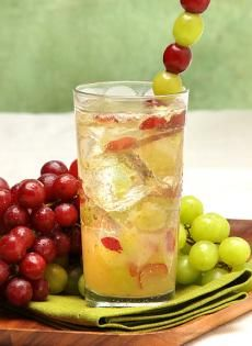 This fizzy and fruity drink will definitely tickle your fancy and your toes!   2 oz Barefoot Moscato Spumante   1.5 oz lime juice   1 oz simple syrup   5 red grapes   5 green grapes   In a cocktail shaker, muddle grapes, lime juice, and simple syrup. Add ice and top with Barefoot Moscato Spumante. Gently roll. Pour into a tall glass and garnish with a long skewer of grapes