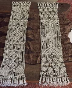 Custom Macrame Table Runners by KnottyNaturedHB on Etsy
