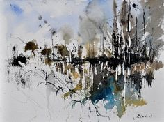 abstract 012130, painting by artist ledent pol