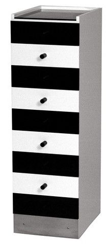 Design by Marcel Breuer, 1924. The S43 Cabinet with 9 drawers is also available in stainless steel.