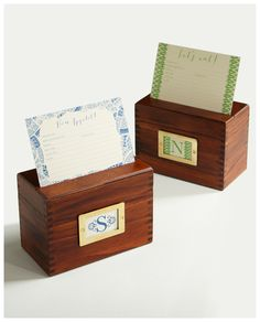 Custom Wood Recipe Box - to get rid of all my paper printouts and scribbly notes!