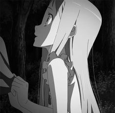 gif * monochrome stitch Anohana meiko honma actually a All Anime, Anime Manga, Menma Anohana, Icon Gif, A Silent Voice, Anime Art Girl, Matching Icons, Character Art, Monochrome