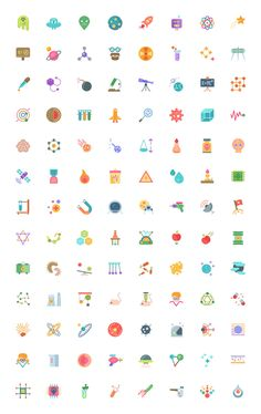 Free #Science #Icons: 104 Icons In 3 Styles