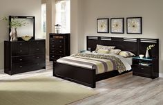 Bally Espresso II Bedroom Collection | Furniture.com-Queen Wall Bed $599.99