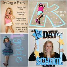 First Day of School Photo Ideas 1