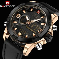 22.68$  Buy here - http://alirkr.shopchina.info/go.php?t=32782565285 - NAVIFORCE Men Watch Dual Time Zone Alarm LCD Sport Watch Mens Quartz Wristwatch Silicone Waterproof Dive Sports Digital Watches  #SHOPPING