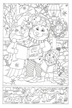 Hidden Pictures Free Printable Object Games For Christmas Puzzle Adults schule Christmas Puzzle, Christmas Games, Christmas Activities, Christmas Printables, Christmas Colors, Activities For Kids, Christmas Coloring Pages, Coloring Book Pages, Coloring Pages For Kids
