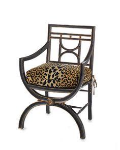 "John-Richard Collection ""Cheetah"" Roman Chair - Neiman Marcus"