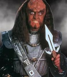 Gowron // I actually loved Gowron. Not literally, but after Worf he was probably my favorite Klingon. Okay, and after Worf's mate.