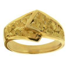 Alaskan Gold Nugget Wedding Band. Style#: GRL253 - Gold Nugget Jewelry by Alaskan Gold Rush Fine Jewelry - Fairbanks, Alaska - 907-456-4991 - www.goldrushfinejewelry.com