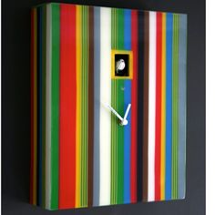 Stripe Coo Coo Clock