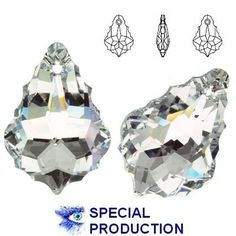 6090 Baroque 22mm Crystal CAL  Dimensions: 22,0 mm Colour: Crystal Comet Argent Light ( Crystal CAL ) 1 package = 1 piece