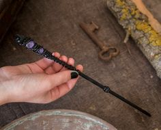 Wand Galaxy Purple Wand, Magic Wand with two glass dome in purple, Black Magic Wand, Geek Costume, Witch & Wizard Wand Witch Wand, Wizard Wand, Witch Spell, Staff Magic, Geek Costume, Harry Potter Oc, Harry Potter Wands Diy, Harry Potter Halloween Party, Diy Wand