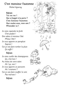 Discover recipes, home ideas, style inspiration and other ideas to try. French Class, French Lessons, Black And White Photo Wall, Teaching French, Learning Games, French Language, Activities For Kids, Kindergarten, Poems
