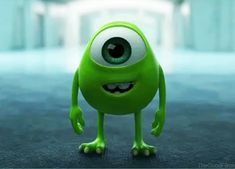 disney adorable pixar monsters inc mike wazowski Disney Pixar, Walt Disney, Disney Films, Disney And Dreamworks, Disney Love, Disney Magic, Disney Videos, Monster University, Monsters University Quotes