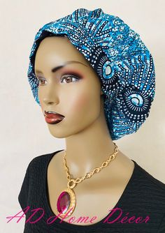 🦋✨🦋 Live your best life looking unbelievable! STELLAR Ankara-Print Bonnet (Silk Satin-Lined) Bonnet Cap, Head Crown, Silk Satin Fabric, Brown Skin Girls, Boho Fashion, Hijab Fashion, Girl Swag, Protective Hairstyles, African Dress