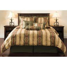 Dakota Jacquard Bedding Comforter Set Green/Gold King Size – A Luxury Bed – Silk Sheets Bedspreads Luxury Bedding Queen Comforter Sets, Queen Beds, Bedding Sets, Queen Size, King Size, One Bed, Adjustable Beds, Toss Pillows, Luxury Bedding