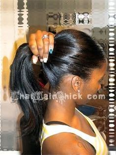 Full Sew In Weave | Braidless sew in using the Malaysian technique. Client is able to wear ...