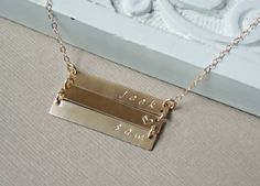 Personalized Bar Necklace 2 3 4 Bar Necklace by SilverLotusDesigns, $72.00