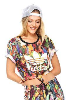 Camiseta adidas Originals Farm Passaredo Laranja Preta c5e1bf556a528