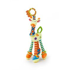 Plush Giraffe Animal YKS Baby Plush Toy Developmental Interactive Toy Infant Baby Development Soft Giraffe Animal Handbells Rattles Handle Toys For Crib High Chair And Interactive Playing -- Visit the image link more details. Note:It is affiliate link to Amazon.