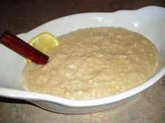 This a simple, creamy rice pudding.  If you want to make this diary free just substitute the milk with coconut milk.