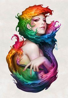 Angel Of Color – Illustration par Artgem
