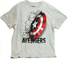 America New Marvel Avengers Boys Graphic T-Shirt Age 7 to 13 Hulk Iron Man Cap