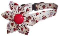 SPIFFY POOCHES Dog Collar PUPPY LOVE Hearts Paws Blossom Flower Puppy Gear #SPIFFYPOOCHES