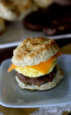 These sausage egg and cheese biscuits are my absolute favorite freezer meal breakfast sandwiches. So easy to put together and make for a quick and yummy breakfast. #freezermeals