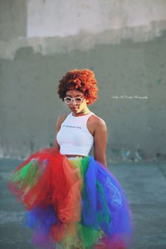 Rainbow tea length tutu adult tutu gay pride tutu by TutuHot